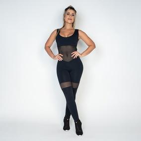 Macacão Fitness Poliamida Tela Mc101