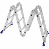 Escada Multifuncional 12 Degraus 4x3 Plataforma Em Aço Mor