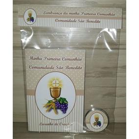 10 Livros De Orações + Latinha C/ Terço Primeira Eucaristia
