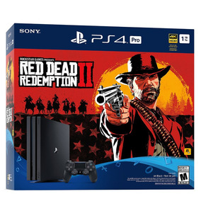 Consola Sony Playstation Ps4 Pro 1tb Red Dead Redemption 2