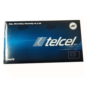 Chip Telcel 4g Lte Micro/nano V6.4 Precargado $50