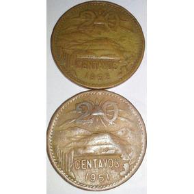Lote De 50 Monedas De 20 Centavos Teotihuacan, No Subasta