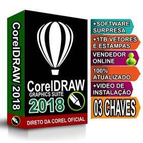 Corel Draw 2018 03 Chaves (superior À X7 X8 X9 2017)