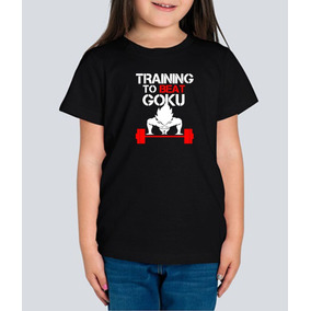 Playera Goku Dragon Ball Training Gym Gimnasio Niña 1 Pza