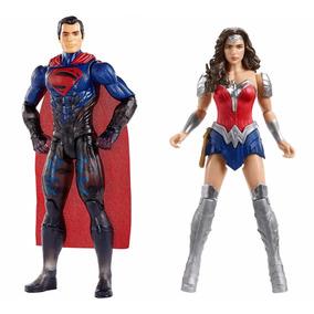 Kit Bonecos Mulher Maravilha + Superman 30cm Mattel Fgg78