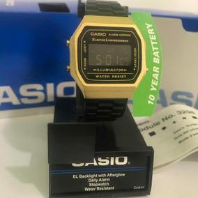 Reloj Casio A168 Dorado Y Negro Vintage Retro Original