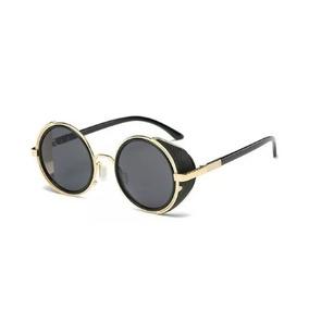 57d0d69bcea0f Óculos De Sol Redondo Vintage Com Proteção Lateral - Óculos no ...