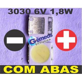 50 Led Smd 3030 6v Semp Toshiba 40l5400 40l2400 C/ Abas