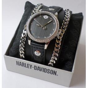 Harley Davidson Relógio Feminino Crystal Bulova Original