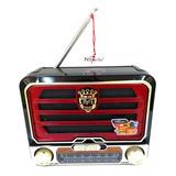 Radio N@no-tec Fm Am Auxiliar Usb Antiguo