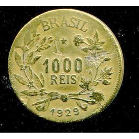 7 Moedas Brasil Rep. 1000 Réis -bronze 1924/1931 (raras) L86