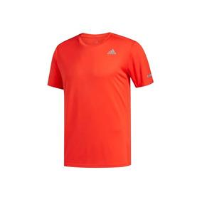 Playera adidas Run Tee Para Hombre Color Rojo Y Negro 55206