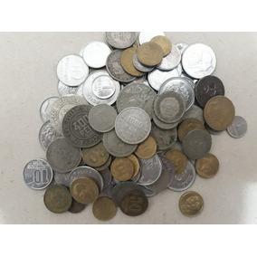 100 Moedas Nacionais (prata,bronze,níquel,aço)