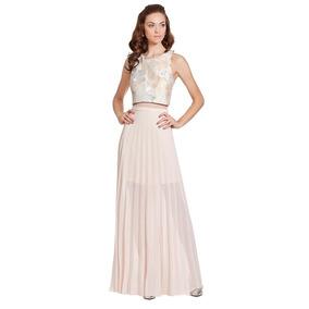 Vestido Largo Crop-top Simulado Eva Brazzi