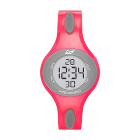 Skechers - Reloj Sr2022 Digital Display Pink Para Mujer