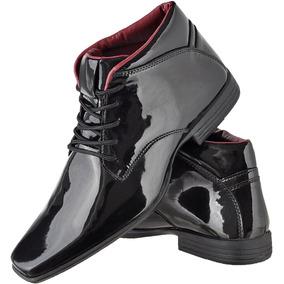 71b3f94244 Sapato Social Masculino Vernizado Paganezzi Italiano - Botas no ...