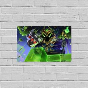Placa Em Alumínio League Of Legends Veigar Chefão Final 30
