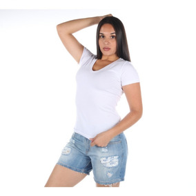 Bermuda Colcci Feminina Jeans Com Detalhe Destroyer