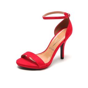 33c2e9e5cb Sandalia Vermelha Salto Fino Sandalias Feminino Tamanho 34 ...