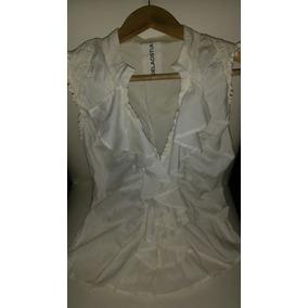 f4fcc26b04bbd Camisa Blanca Mujer Elastizada Camisas Chombas Blusas - Ropa y ...