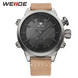 f75f363ac18 Relógio Masculino Weide Wh-6101 Dual Time Led Pulseira Couro