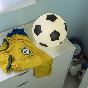 Luminária Bola De Futebol Preto cc1eef1072070