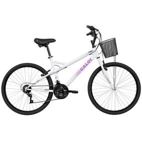 Bicicleta Caloi Ventura Com Cesta, Aro 26 21 Marchas Branca