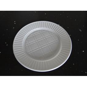 Plato Descartable 17cm. Plastico X Unidad. Blancos Oferta