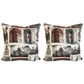 Set De 2 Cojines Decorativos 45x45 - London