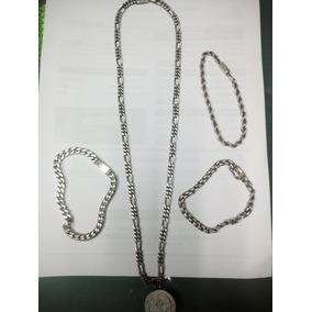 d5a7bf1144f2 Esclava De Plata Hombre Gruesa Sin Piedras - Joyería