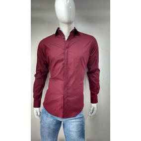 Camisa Vino Para Hombre