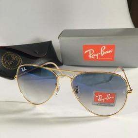 151e7b6040e8d Óculos Ray Ban Aviador Lentes De Cristal Azul Degradê - Óculos no ...