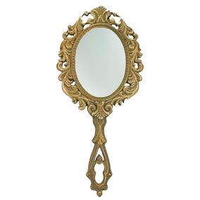 Espejo De Mano Vintage Madera Indoprod