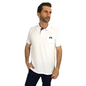 Camisa Polo Branca Lisa Bolso - Pólos Manga Curta Masculinas no ... 6c29ca1a8d63b