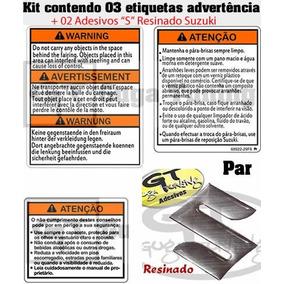 Adesivo Advertência Suzuki Hayabusa Srad + Par S Resinado