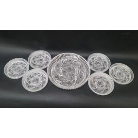 Conjunto Para Sobremesa Em Cristal, 7 Pratos