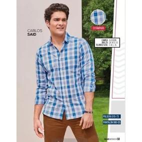 Camisa Azul Cuadros Ml P/caballero Cklass 985-25 Pv-19