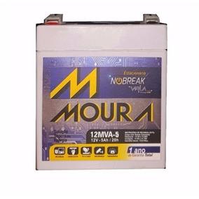 Bateria Selada 12v 5ah Moura P/ No Break, Alarme, Cerca..