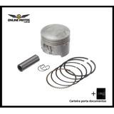 Pistão Kit Com Anel Kmp - Moto Shineray Xy50q 1.00 + Brinde