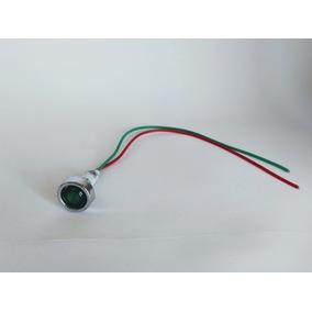 Sinaleiro Olho De Boi 9mm, 10 Peças Tensão 24 V Verde