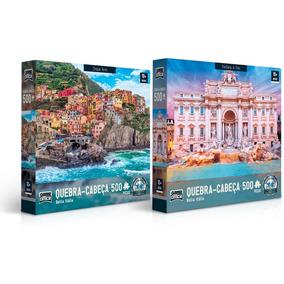 Kit Quebra-cabeça Toyster 500 Peças - Bella Itália