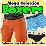 Patrones Moldes Imprimibles Boxer Masculino Interior