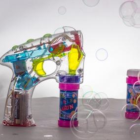 Pistola Juguete De Burbujas Con Luz Para Fiestas