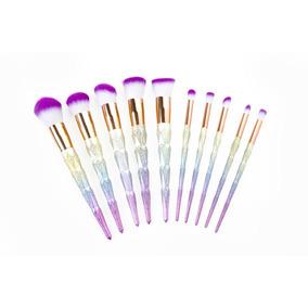 Brochas Maquillaje Set 10 Arcoiris Rainbow Maquillaje Ojos P