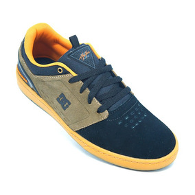 Tênis Dc Shoes Cole Signature Couro Preto E Laranja