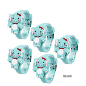Reloj Infantil Elefante Niño Reloj Digital Mayoreo 5 Pcs 0c98dd105027