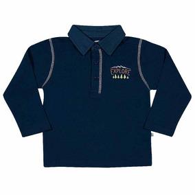 338f4a0775 Camisa Polo Infantil - Pólos Manga Longa para Meninos no Mercado ...