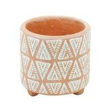 Vaso Em Cerâmica Indian Laranja 14cm