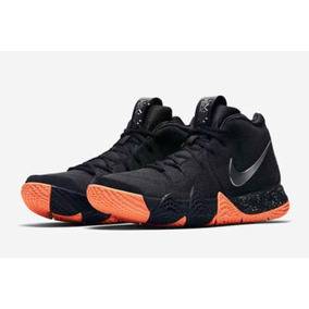 Tenis Nike Kyrie 4 // Negro/naranj // #talla 5.5 A La 11 Mx