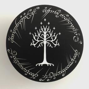 Quadro Senhor Dos Anéis Escrita Anel Árvore De Gondor